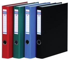 Donau Gyűrűs könyv, 4 gyűrű, D alakú, 45 mm, piros