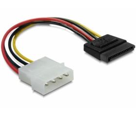 Delock SATA HDD – 4 tűs Molex (egyenes)