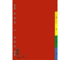 Donau Regiszter, műanyag, A4, 1-5, színes
