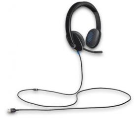 Logitech H540 USB + Mikrofon - 981-000480 - Fejhallgató ... 02cc640792