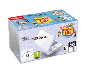 New Nintendo 2DS XL White&Levander + Tomodachi