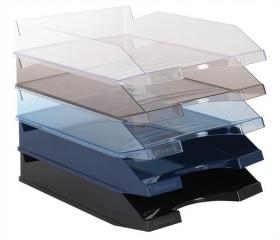 Victoria Irattálca, műanyag, áttetsző kék