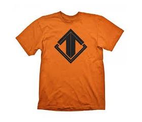 "Escape Gaming T-Shirt ""Black On Orange"", L"