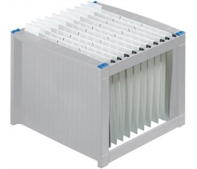 Helit függőmappa tároló, világosszürke-kék