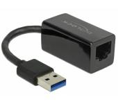 Delock USB 3.0 > Gigabit LAN kompakt, fekete