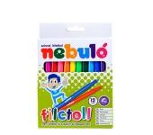 Nebulo Filctoll készlet, 1mm, 12 különböző szín