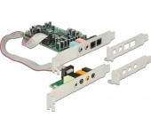 Delock PCIe 7.1 24bit 192kHz TOSLINK ki/be