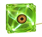 Revoltec 4xLED - 120x120x25mm Mély Zöld