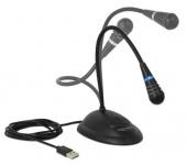 Delock gégecsöves USB mikrofon talppal