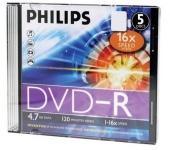 Philips DVD-R 4,7GB slim 16x írható dvd