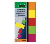Sigel Jelölőcímke papír 5x40 lap Neon vegyes szín