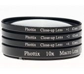 Phottix +1,+2,+4,10x macro előtét 62mm