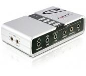 Delock USB Sound Box 7.1 Fehér (61803)