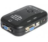 Delock 2 > 1 VGA KVM kapcsoló USB-vel és audioval