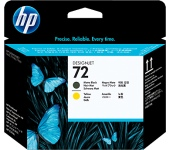 HP 72 matt fekete és sárga DesignJet nyomtatófej