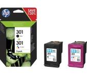HP 301 2 darabos fekete/háromszínű