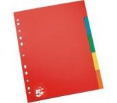 5 STAR Regiszter, műanyag, A4, 10 részes, színes