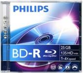 Philips BD-R25 25Gb 6× (1 db) Jewel Case