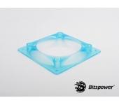 Bitspower ventilátoradapter 120mm > 80/92mm UV kék