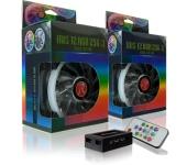 Raijintek Iris RGB PWM 12cm 3db + vezérlő