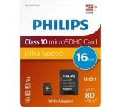 Philips microSDHC 16GB Class 10 UHS-I + adapter