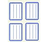 APLI füzetcímke, kék szegélyes, vonalas, 38x50 mm