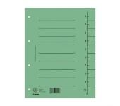 Donau Regiszter, karton, A4, zöld (100 db)