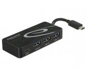 Delock USB 3.1 Gen 1 Type-C hub külső táppal