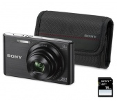 SONY DSC-W830 kit fekete - Ajándék 16GB-os kártyáv