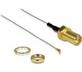 Delock antennakábel SMA jack bulkhead > MHF IV/HSC