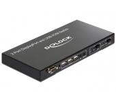 Delock 2 > 1 Displayport KVM Switch USB és Audio