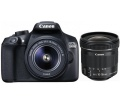 Canon EOS 1300D + 18-55mm DC III + 10-18mm IS STM