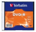 Verbatim DVD-R 4,7GB 16x slim case