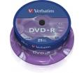Verbatim DVD+R 4,7GB 16x henger 25db