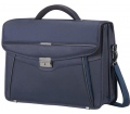"Samsonite Desklite Briefcase 2 Gussets 15.6"" Blue"