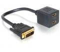 Delock Adapter DVI 25 apa to 2x HDMI anya