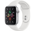 Apple Watch S5 44mm alu ezüst/fehér sportszíj