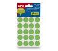Apli Etikett, 19 mm kör, kézzel írható, zöld