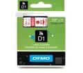 DYMO címke LM D1 alap 12mm Piros/Átlátszó