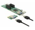Delock PCI Express x1 >2 x PCIe x1 30 cm USB kábel