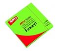 Apli Öntapadó jegyzettömb, 100 lap neon zöld