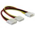 Delock Molex Y-Cable tápkábel -> 2x 4pin Molex