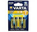 Varta Long Life 1.5V AAA alkáli elem 4db