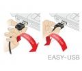 Delock Adapter EASY-USB 2.0-A male > USB 2.0-A fem