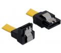 Delock SATA 6 Gb/s le/egyenes fém sárga 30cm