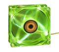 Revoltec 4xLED - 80x80x25mm Mély Zöld