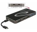 Delock USB 3.1 Type-C dokkolóáll. HDMI/DP/VGA/USB