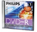 Philips DVD-R 4,7GB slim 16x írható dvd