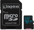 Kingston Canvas Go! microSD 90MB/s 64GB + adap.