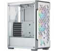 Corsair iCUE 220T RGB Airflow edzett üveg fehér